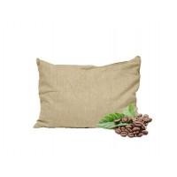 Кофейная подушка Экстра (пленка зерна, льняной чехол)